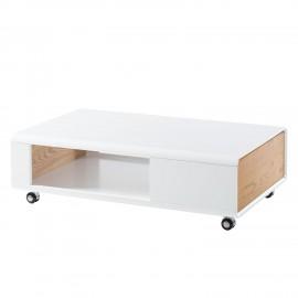 Stolik 110x70 Biały + Dąb