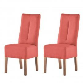 Krzesła Zestaw 2 szt Skóra