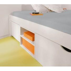 Łóżko Białe 90x200 Szuflady