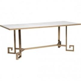 Stół 200x80 Szkło +Metal