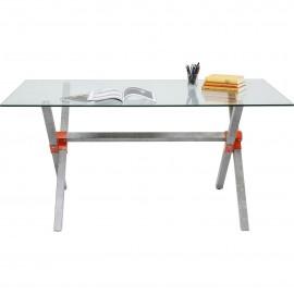 Stół 160x90 Stal+Szkło