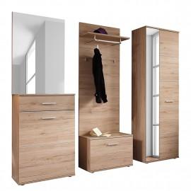 Przedpokój Garderoba Dąb 5 części WYPRZEDAŻ