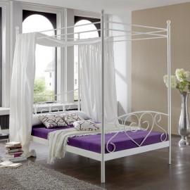 Łóżko Kompletne 140x200 Białe