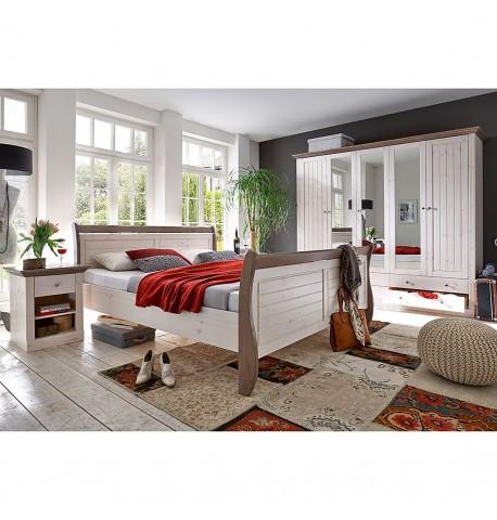 Sypialnia Kompletna Drewno Sosna