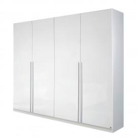 Szafa 181 cm 4  Drzwi Biały połysk