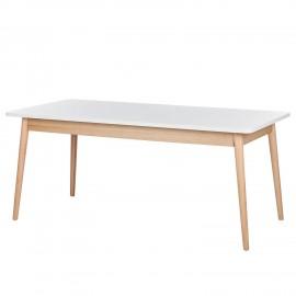 Stół Retro 180-240x90 Biały + Dąb