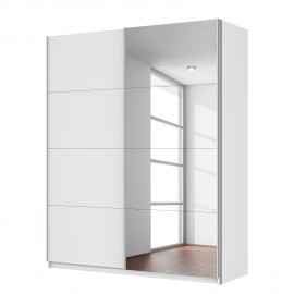 Szafa 181x222 cm Biała + lustra