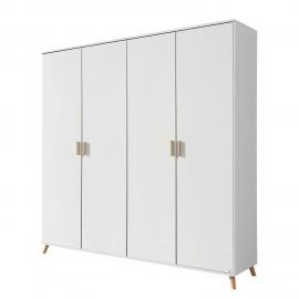 Szafa 4 Drzwi 181x203cm Biała
