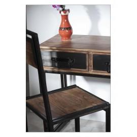 Krzesła Industrialne Palisander +Stal 4 szt