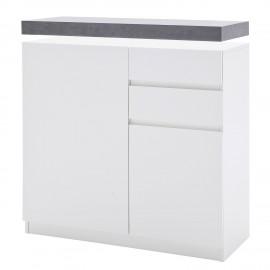 Komoda 91x38 Biały + Beton