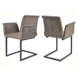 Krzesła Zestaw 4szt z Podłokietnikami