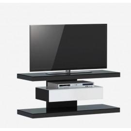 Komoda RTV 110x45 Czarny Mat + Biały
