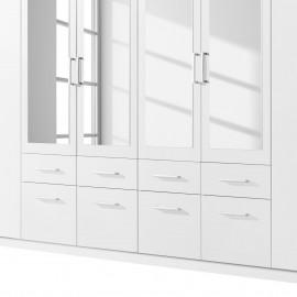 Szafa 360 cm 8 Drzwi Biała