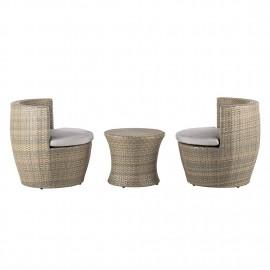 Zestaw Ogrodowy Stolik + 2 Fotele