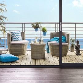 Zestaw Ogrodowy Stół + 2 Fotele