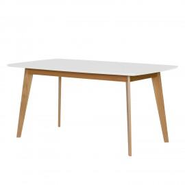 Stół Retro 160x90 Biały + Dąb
