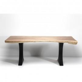 Stół Industrialny 2000x100 Drewno+Stal
