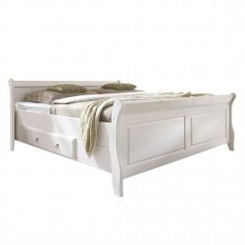 Łóżko 200x200 Drewno Sosna