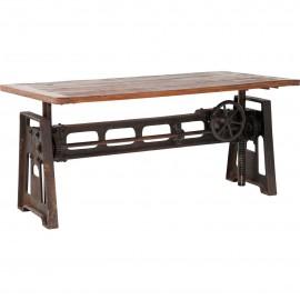 Stół Industrialny 160x80 Drewno+Żeliwo