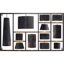 Dekoracja ścienna Lampy 185x110 cm