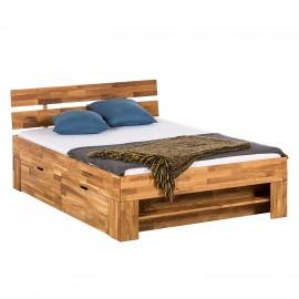 Łóżko 180x200 Drewno + Szuflady