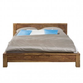 Łóżko 160x200 Drewno Palisander