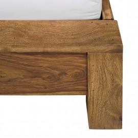 Łóżko 100x200 Drewno Buk
