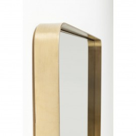 Mirror Curve Rectangular Brass 120x80cm