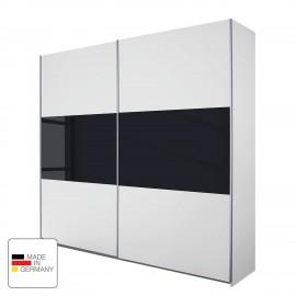 Szafa 218x210 cm Biało Czarna WYPRZEDAŻ