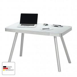 Biurko 140x60 Aluminium + Szkło WYPRZEDAŻ