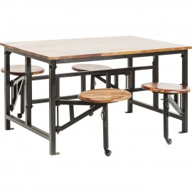 Stół 140x90 + 4 stołki