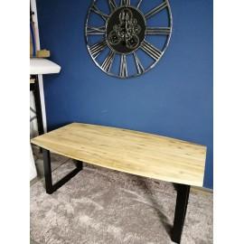 Stół 190x80/100 Drewno+Stal