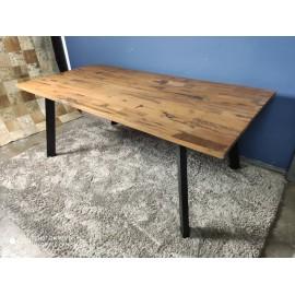 Stół Industrialny 200x100 Drewno+Stal