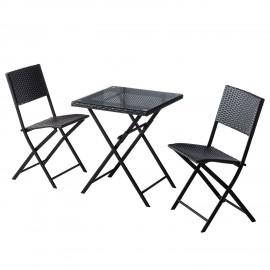 Zestaw Balkonowy Stół + 2 Krzesła