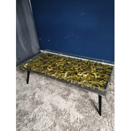 Stolik kawowy 120x60 Złote Kwiaty