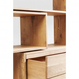 Regał 187x187cm Drewno Dąb