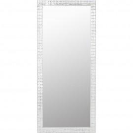 Lustro Białe 180x80 Kryształki