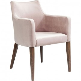 Fotel Retro Aksamit  Róż