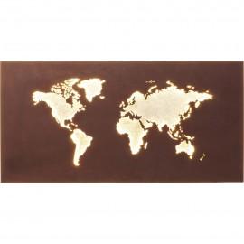 Lampa Ścienna Mapa Świata
