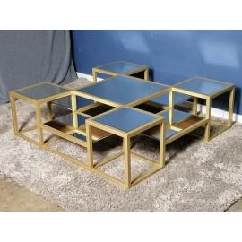Stolik 120x120 Złoty