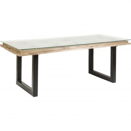 Stół 200x90 Drewno + szkło