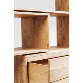Regał Drewno Dąb