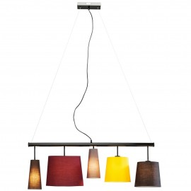 Lampa Wisząca 5 Kloszy 100cm
