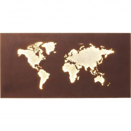 Lampa LED Ścienna Mapa Świata