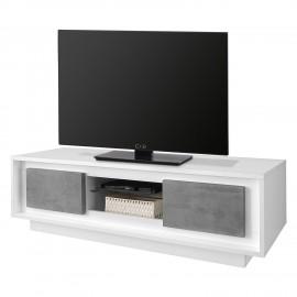 Komoda RTV 156x50 Biały + Beton