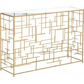 Konsola 120x35 Szkło + Stal