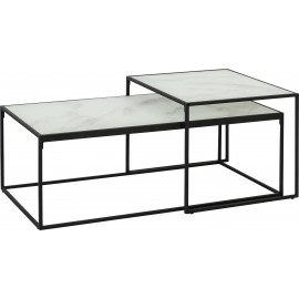 Zestaw stolików Stal + Szkło