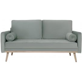 Sofa dwuosobowa z aksamitu 169x87