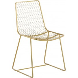 Krzesło Stalowe Złote 2 szt