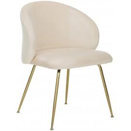 Krzesło Tapicerowane Aksamit 2 szt.